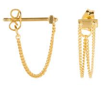 Ohrringe RIVET TWO CHAIN - gold