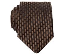 Krawatte - hellbraun/ dunkelbraun