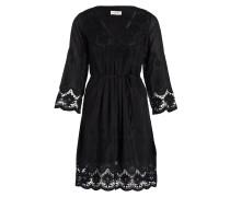 Kleid mit Seidenanteil - schwarz