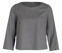 Bluse mit 3/4-Arm - grau meliert