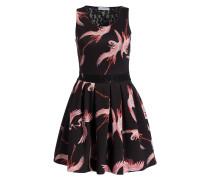 Kleid - schwarz/ rose
