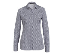 Bluse Slim Fit - dunkelblau/ weiss