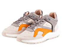 Sneaker - grau/ creme/ orange