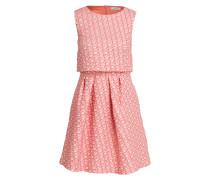 Jacquard-Kleid PIANURA - rosa