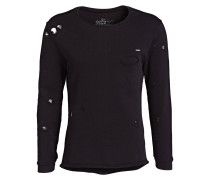 Destroyed-Sweatshirt - schwarz