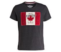 T-Shirt - dunkelgrau/ rot/ beige