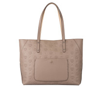 Shopper KLARA MONOGRAMMED MEDIUM - mocca