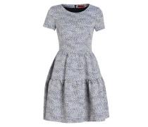 Jacquard-Kleid KALOLA - hellblau/ weiss
