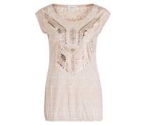 T-Shirt - nude/ weiss/ rosè metallic