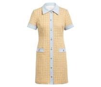 Kleid im Materialmix