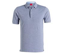 Piqué-Poloshirt Level Five body fit - blau