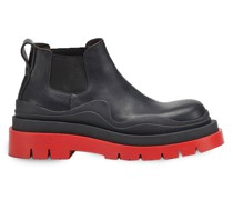 Chelsea-Boots - BLACK BRIGHT RED