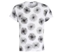 T-Shirt - weiss meliert/ schwarz