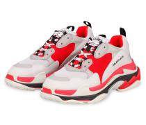 Sneaker TRIPLE S - HELLGRAU/ ROT