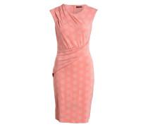 Jerseykleid - rosa/ ecru