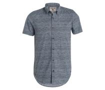 Halbarm-Hemd Slim-Fit - grau/ weiss/ mint