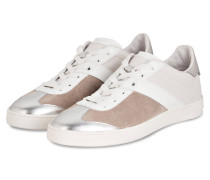 Sneaker - silver/ weiss/ taupe