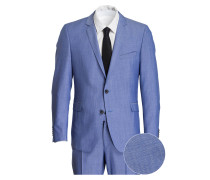 Anzug RANCE-MERCER Slim-Fit - blau