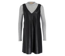 2-in-1-Kleid ANGY - grau/ schwarz