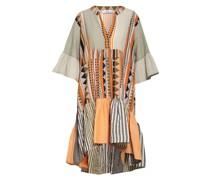 Kleid mit 3/4-Arm und Volantbesatz