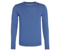 Pullover mit Schurwoll-Anteil - blau