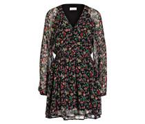 Kleid PEO - grün/ schwarz/ pink