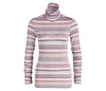 Rollkragenpullover - rosa/ altrosa