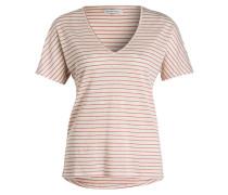 T-Shirt ALICE - ecru/ altrosa gestreift
