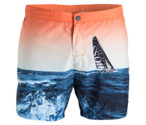 Badeshorts BLACKFISH - blau/ orange