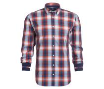 Hemd Modern-Fit - rot/ blau kariert