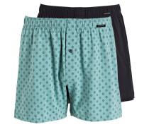 2er-Pack Boxershorts - grün/ schwarz