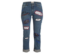 7/8-Jeans mit Patches