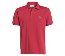 Piqué-Poloshirt Classic-Fit - dunkelrot