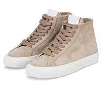 Plateau-Hightop-Sneaker SANDY - TAUPE