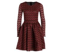 Kleid ROYANI - dunkelrot/ braun