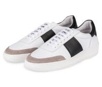 Sneaker - weiss/ schwarz/ taupe