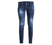 Destroyed-Jeans JENNIFER - broken blue