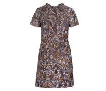 Jacquard-Kleid RIMANE - braun/ ecru/ blau