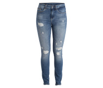 Destroyed-Jeans - periwinkle blue