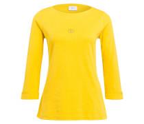 Shirt FLORENA mit 3/4-Arm - gelb