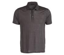 Leinen-Poloshirt - grau