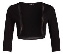 Jersey-Bolero - schwarz