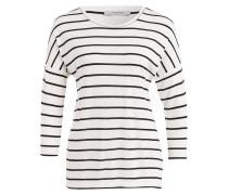 Shirt mit 3/4-Arm - weiss