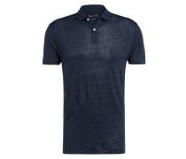 Jersey-Poloshirt aus Leinen