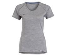 T-Shirt mit Merinowolle - grau