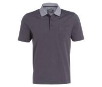 Piqué-Poloshirt - anthrazit/ weiss