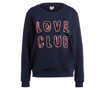 Sweatshirt LOVE BOMB mit Paillettenbesatz