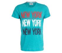 T-Shirt - türkis/ dunkelblau/ rot