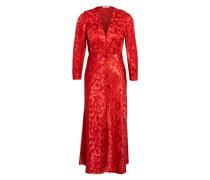 Kleid mit Seide und 3/4-Arm