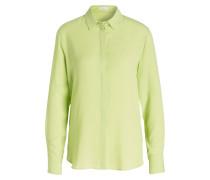 Bluse mit Seiden-Anteil - grün